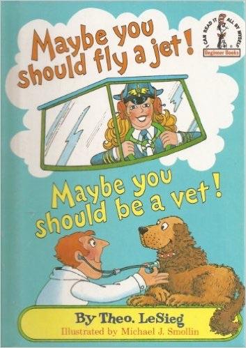 Maybe you should fly a jet! Maybe you should've a vet!