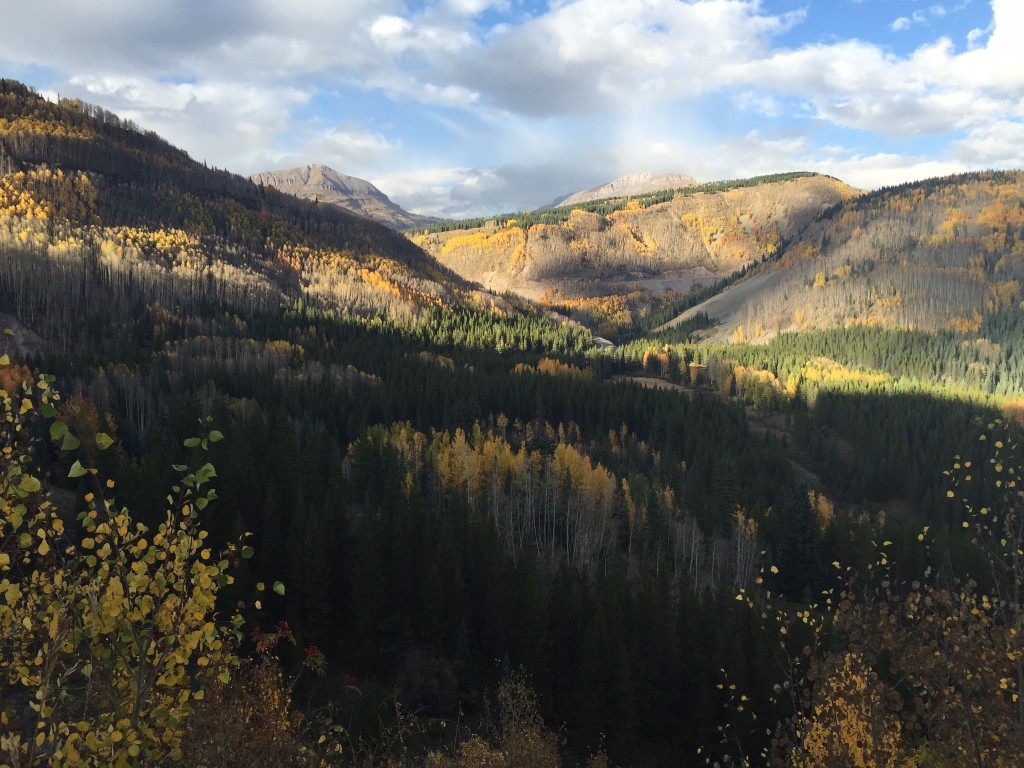 San Juan mountains in the fall